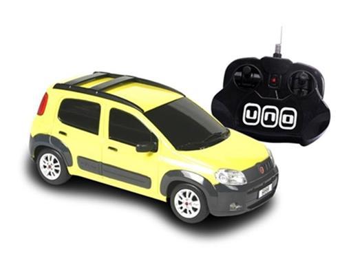 Fiat: Novo Uno - Amarelo - Controle Remoto - 1:18