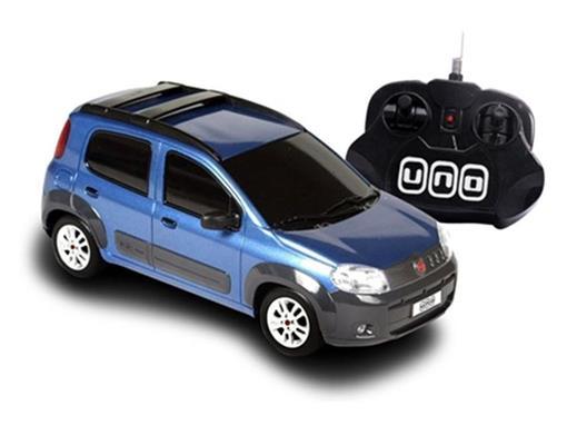 Fiat: Novo Uno - Azul - Controle Remoto - 1:18