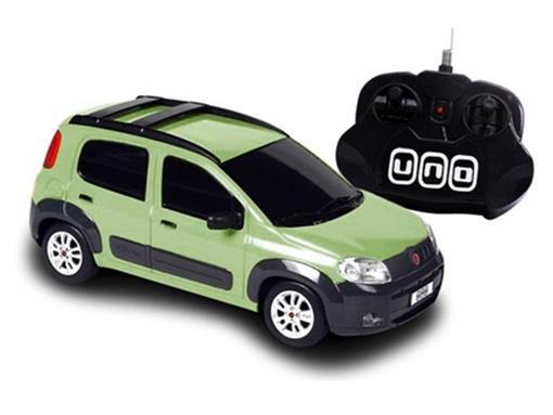 Fiat: Novo Uno - Verde - Controle Remoto - 1:18