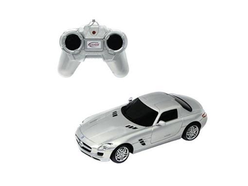 Mercedes Benz: SLS AMG - Prata - Controle Remoto - 1:24