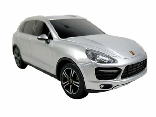 Porsche: Cayenne Turbo - Prata - Controle Remoto - 1:24
