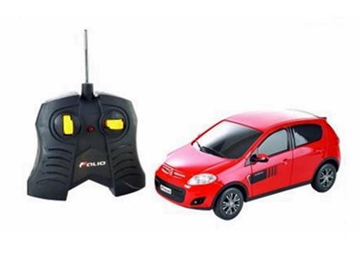 Fiat: Novo Palio Sporting - Vermelho - Controle Remoto - 1:18