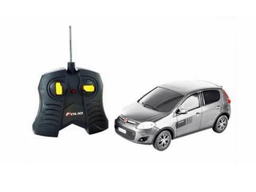 Fiat: Novo Palio Sporting - Prata - Controle Remoto - 1:18