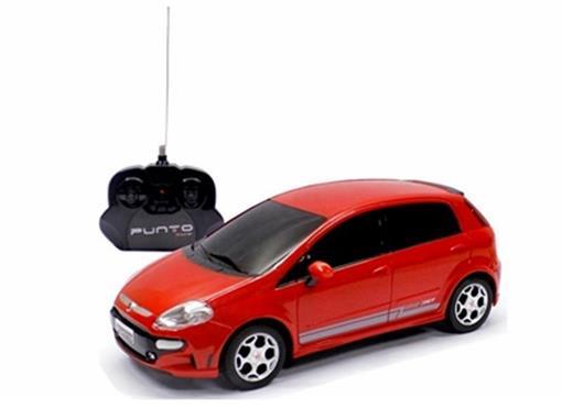 Fiat: Punto T-Jet - Vermelho - Controle Remoto - 1:18