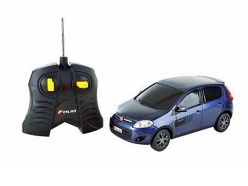 Fiat: Novo Palio Sporting - Azul - Controle Remoto - 1:18