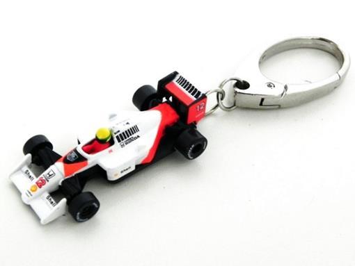 Chaveiro F1 McLaren MP4/4 Honda - Ayrton Senna (1988) - California Toys