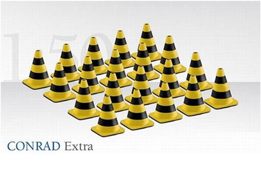 Set: 20 Cones de Trânsito Zebrados - 1:50