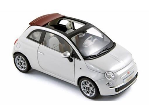 Fiat: 500C (2009) - Branco Metálico - 1:18