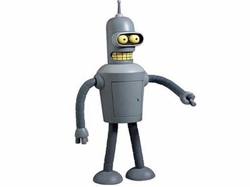 Boneco Bender - Futurama - Toynami