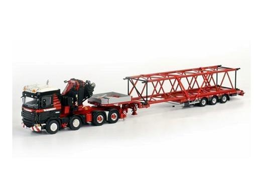 Scania: R Highline 8x4 - Nooteboom c/ Lança PPC - Mammoet - 1:50