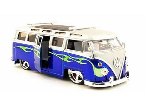 Volkswagen: Bus Kombi (1962) - Azul - 1:24