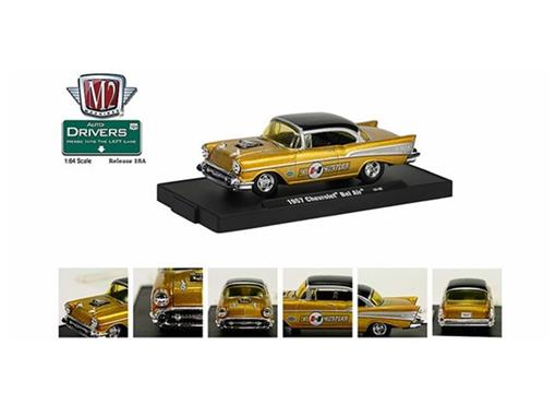 Chevrolet: Bel Air (1957) - Dourada - Auto Drivers - 1:64