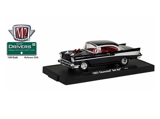 Chevrolet: Bel Air (1957) - Preto - Auto Drivers - 1:64