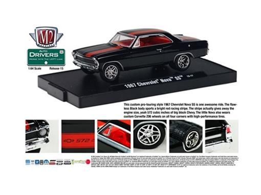 Chevrolet: Nova SS (1967) - Preto - Auto Drivers - 1:64
