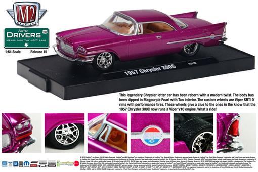Chrysler: 300C (1957) - Rosa - Auto Drivers - 1:64