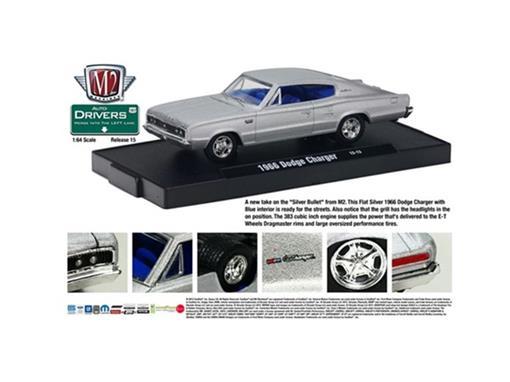 Dodge: Charger (1966) - Prata - Auto Drivers - 1:64