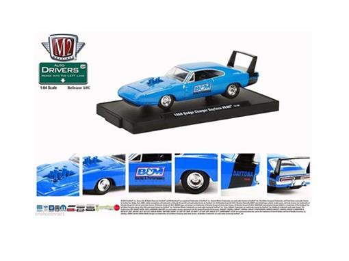 Dodge: Charger Daytona HEMI (1969) - Azul - Auto Drivers - 1:64