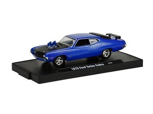 Ford: Torino Cobra (1970) - Azul - Auto Drivers - 1:64