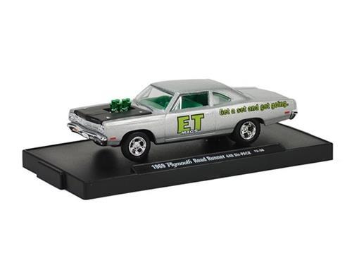 Plymouth: Road Runner 440 (1969) - Prata - Auto Drivers - 1:64