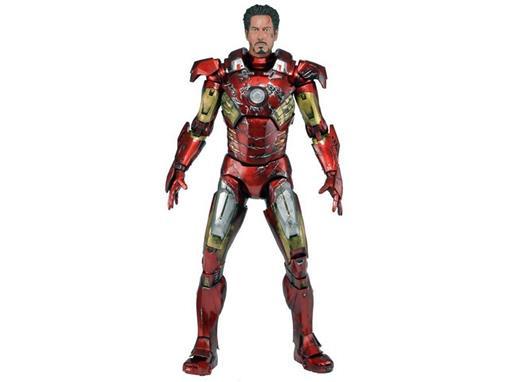 Boneco Iron Man - Battle Damaged - The Avengers - 1:4 - Neca