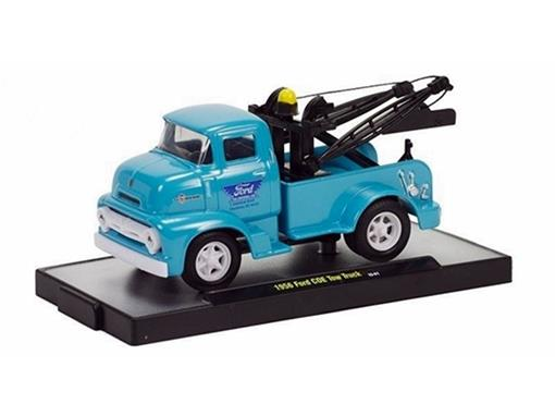 Ford: COE Tow Truck (1956) - Azul - Wild Cards- 1:64