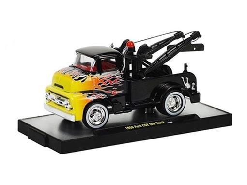 Ford: COE Tow Truck (1956) - Preto - Wild Cards- 1:64