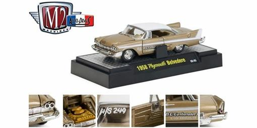 Plymouth: Belvedere (1958) - Marrom - Auto Drags - 1:64