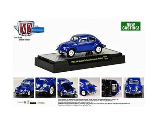 Volkswagen: Fusca (1967) - Azul - Auto Thentics - 1:64