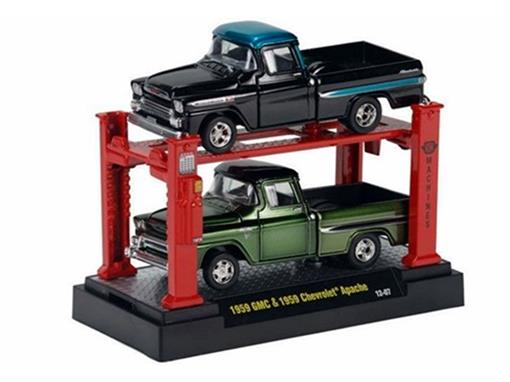 Set: GMC/Chevrolet Apache (1959) - Verde/Pre - Auto Lift - 1:64
