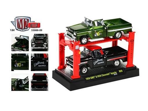 Set: GMC/Chevy Apache R09 (1959) - Verde/Pre - Auto Lift - 1:64
