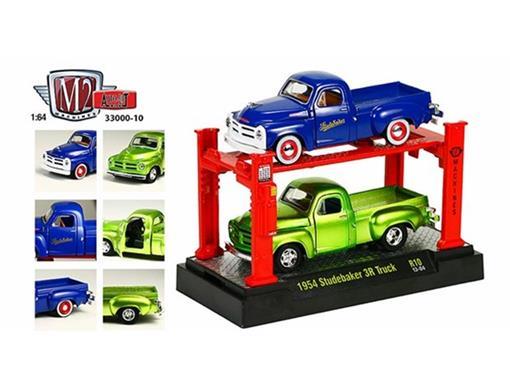 Set: Studebaker 3R Truck (1954) - Verde/Azul - Auto Lift - 1:64