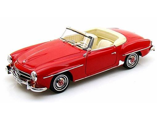 Mercedes Benz: 190 SL (1957) c/ Capota - Vermelho - 1:18