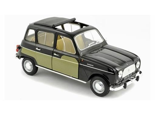 Renault: 4L Parisienne (1963) - Preto/Verde - 1:18