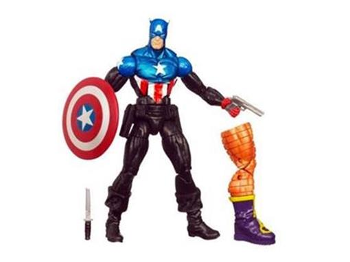 Boneco Capitão América - Série Arnim Zola - Marvel Legends Hasbro