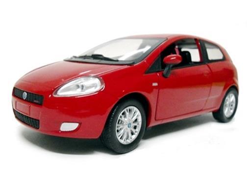 Fiat: Grande Punto - Vermelho - 1:24