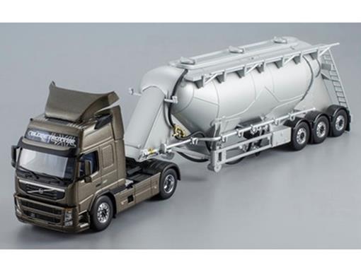 Volvo: FM 450 With Bulk Trailer - Marrom Metálico - 1:50