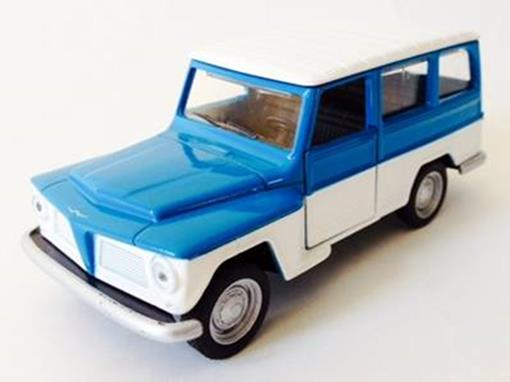 Ford: Willys Rural (1972) - Azul/Branco - 11 cm