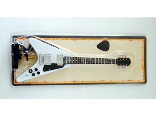 Miniatura de Guitarra Flying V - Branca - (Blister) - 1:4