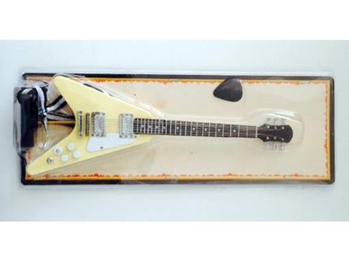Miniatura de Guitarra Flying V - Amarela - (Blister) - 1:4