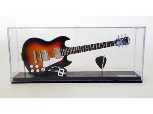 Miniatura de Guitarra SG Epiphone - Preta / Laranja - (Acrílico) - 1