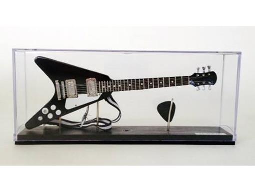 Miniatura de Guitarra Flying V - Preta - (Acrílico) - 1:4