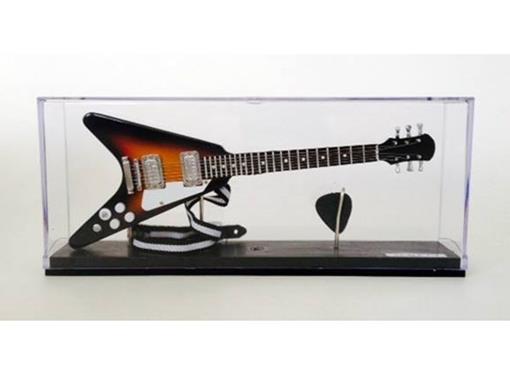 Miniatura de Guitarra Flying V - Sun Burst - (Acrílico) - 1:4