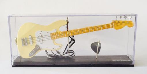Miniatura de Contrabaixo - 4 Cordas - Creme - (Acrílico) - 1:4
