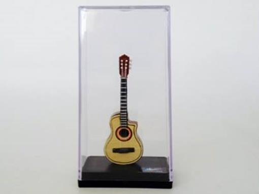 Miniatura de Violão Elétrico - Marrom - (Acrílico) - 12 cm