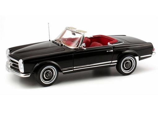 Mercedes Benz: 230 SL (1967) c/ Capota - Preto - 1:18