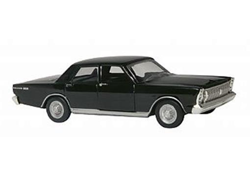 Ford: Galaxie (1967) - Preto - 11cm