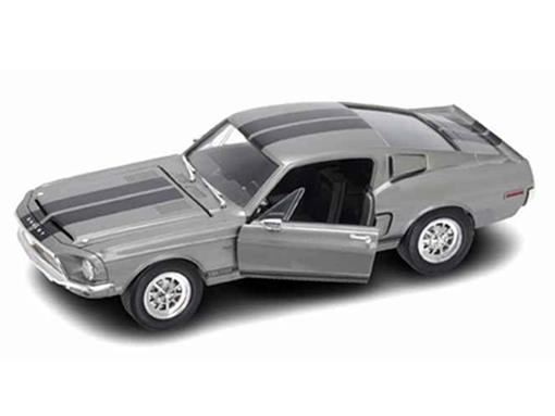 Ford: Shelby GT500KR (1968) - Cinza - 1:18 - Yat  Ming