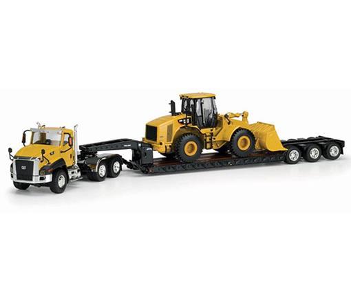 Caterpillar: Caminhão CT660 Prancha c/ Carregadeira 950H - 1:50