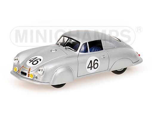 Porsche: 356 Leichtmetall-Coupé - nº46 (1951) - Prata - 1:43