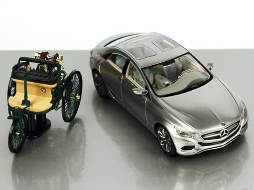 Set: Mercedes-Benz 125! Jahre Innovation - (Benz Patent Motorwagen + Mercedes-Benz F 800 Style) - 1:43